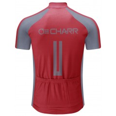 Red Gray Cycling Jersey